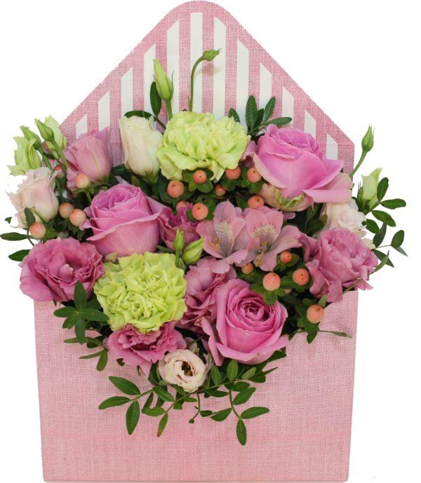 kwiaty w pudełku kwiaciarnia online z dostawą