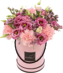 kwiatami w pudełkach