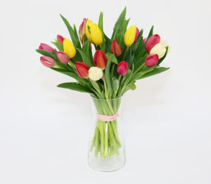 bukietami z tulipanow