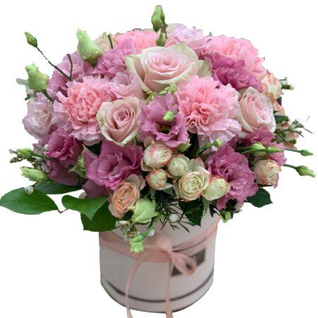 kwiaty w pudełku z dostawą, kwiaciarnia internetowa