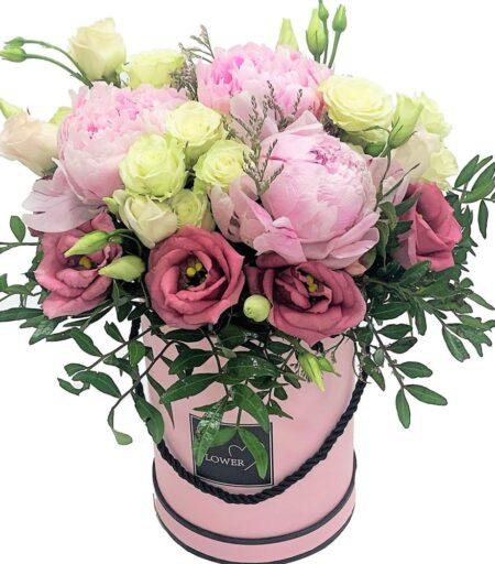flower box kwiaty w pudełku z kwiaciarni internetowej