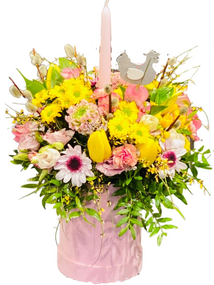 flower box stroik świąteczny
