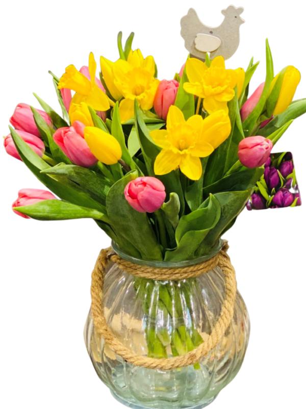 Bukiet tulipanów-kwiaty na święta wielkanocne