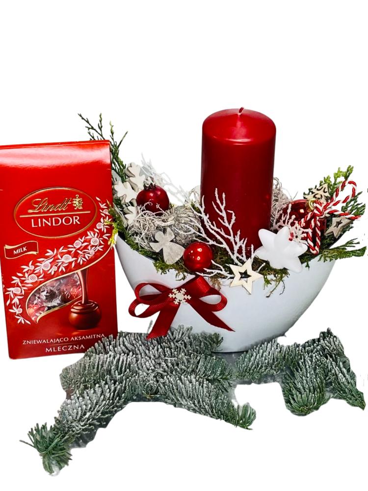 stroik na święta bożego narodzenia, kwiatowa przesyłka, dekoracje świąteczne ręcznie robione dostawa na terenie całej Polski,