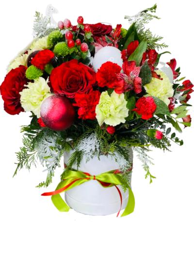 kwiaty na Boże Narodzenie, kwiatowa dostawa poczta z kwiatami Białystok kwiaty w