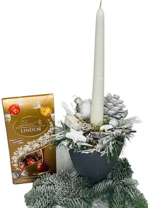 stroik bożonarodzeniowy, kwiaty na święta, poczta i kwiatowa dostawa Poznań