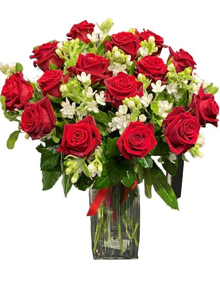 bukiet 15 róż czerwone, dostawa kwiatów poczta florystyczna Poznań kwiatowa dostawa Poznań