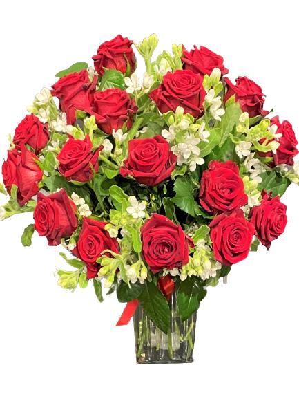 Bukiet 16 czerwonych róż dostawa kwiatowa poczta Wrocław