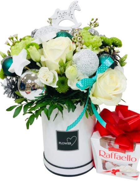 flower box, kwiaty w pudełku Białystok, florystyczna poczta Białystok