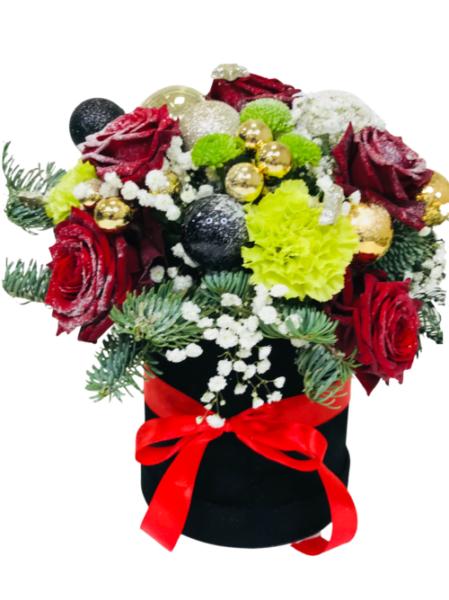 flower box na święta z dostawą poczta z kwiatami Bydgoszcz