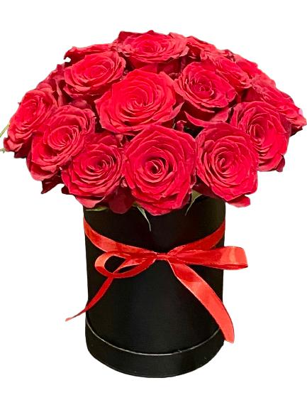 Róże w pudełku Warszawa dostawa kwiatów poczta, kwiatowa przesyłka Warszawa